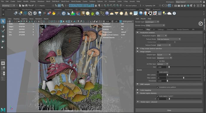V-Ray for Maya Feature
